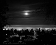 Foglit night, E Portland from Mt Tabor